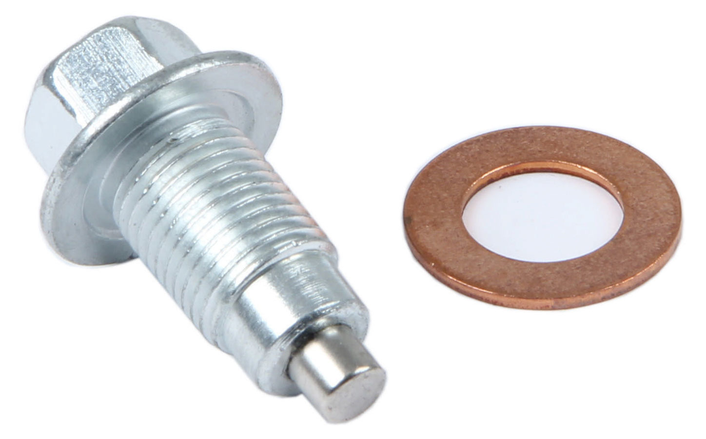 Champ Pans DP Drain Plug, 1/2-20 in Thread, 3/4 in Hex Head, Copper Washer, Magnetic, Steel, Natural, Each