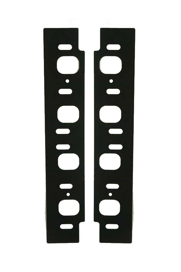 Cylinder Head Innovations IGCOM3V225-060 Intake Manifold Gasket, 0.060 in Thick, Rubber Coated Aluminum, 1.547 x 1.945 in Rectangular Port, Small Block Ford, Pair