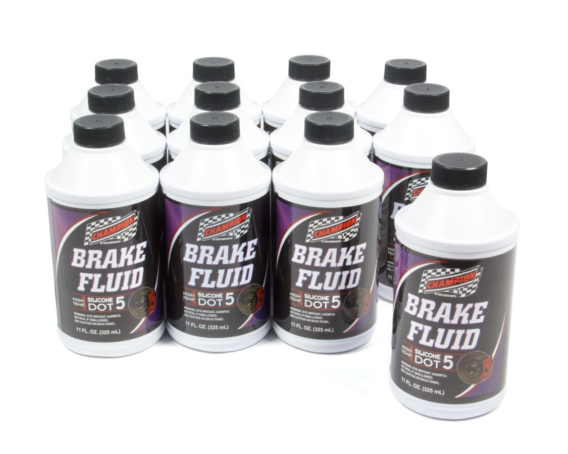 Champion Brand 4055K-12 Brake Fluid, DOT 5, Silicone, 11.00 oz Bottle, Set of 12