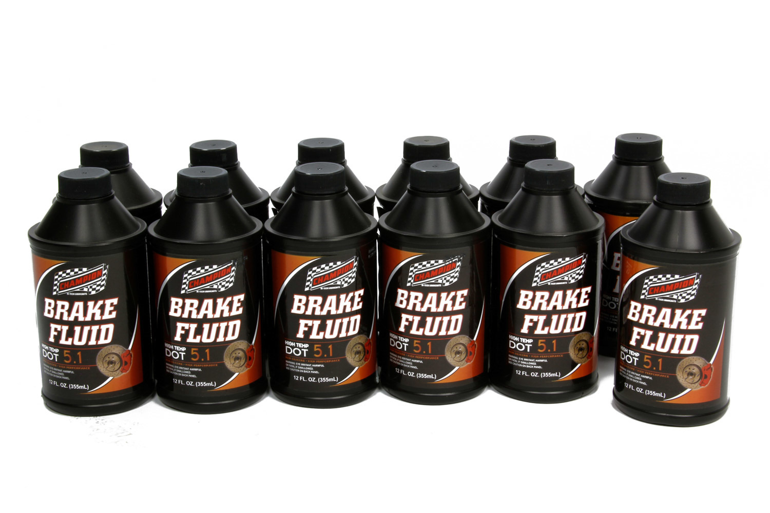 Champion Brand 4056K-12 Brake Fluid, DOT 5.1, Synthetic, 12.00 oz Bottle, Set of 12