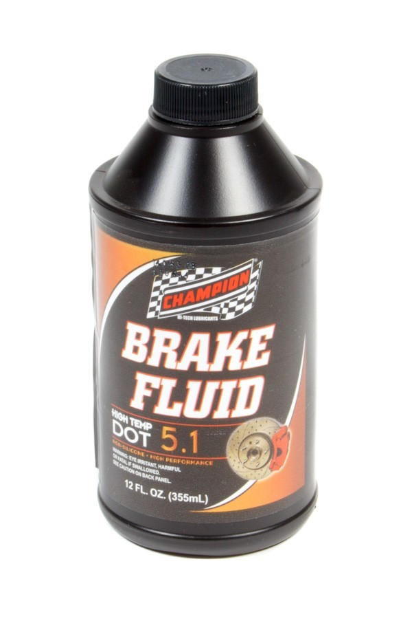 Champion Brand 4056K Brake Fluid, DOT 5.1, Synthetic, 12.00 oz Bottle, Each