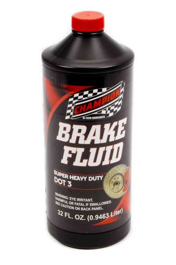Champion Brand 4057H Brake Fluid, DOT 3, Glycol, 1 qt Bottle, Each