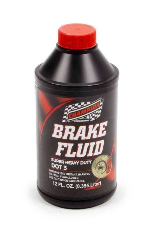 Champion Brand 4057K Brake Fluid, DOT 3, Glycol, 12.00 oz Bottle, Each