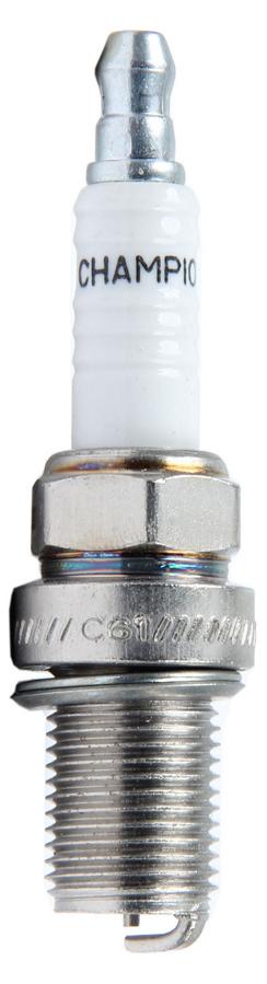 Champion Plugs C57 Spark Plug, Champion Racing, 14 mm Thread, 0.750 in Reach, Gasket Seat, Non-Resistor, Each