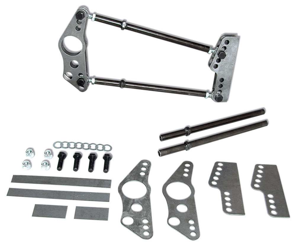 Competition Engineering 2017 Four Link Kit, Standard Series, Weld-On, Brackets / Hardware Included, Steel / Chromoly, Natural, 3 in Axle Tubes, Kit