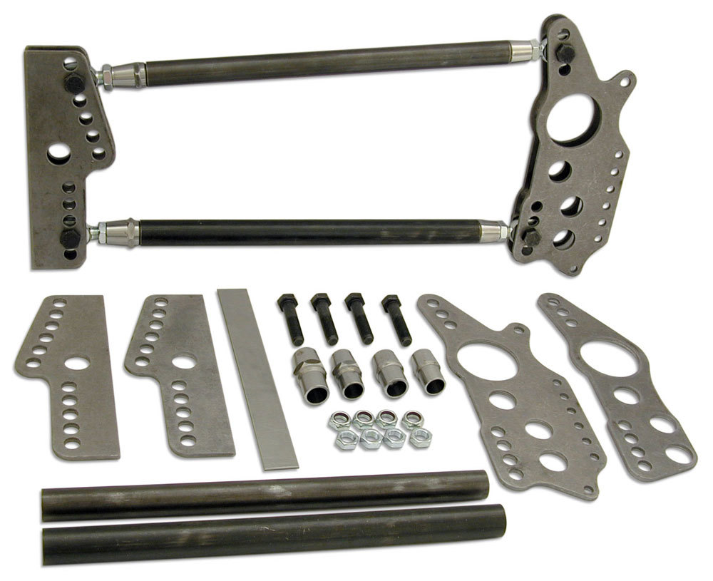 Competition Engineering 2028 Four Link Kit, Magnum Series, Weld-On, Brackets / Hardware Included, Steel / Chromoly, Natural, 3 in Axle Tubes, Kit