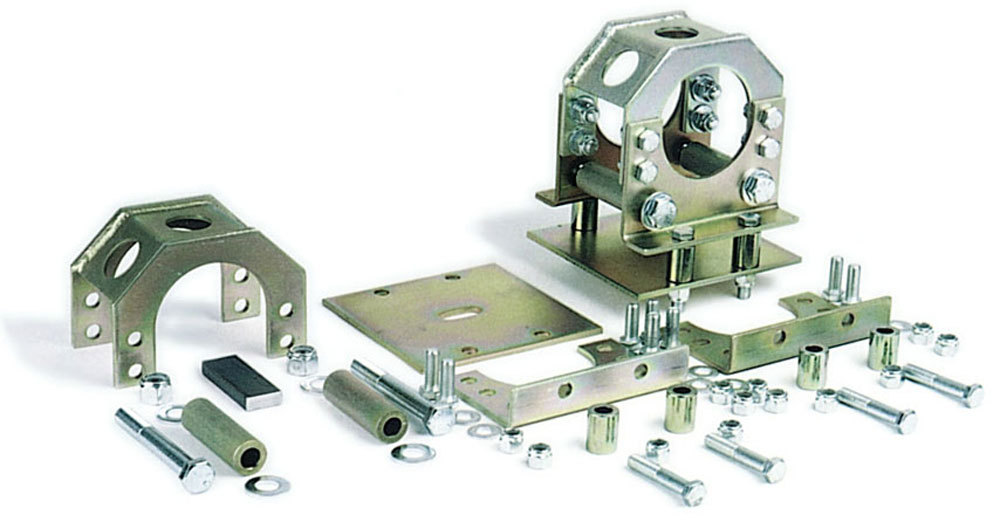 Competition Engineering 2030 Axle Housing Bracket, Bolt-On, Slider, Steel, Natural, 3 in Axle Tubes, Kit