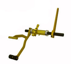 Coleman Machine 29700 Pedal Assembly, Roller, Gas, Adjustable, 25 Degree Foot Box Mount, Aluminum, Gold Anodize, Universal, Each
