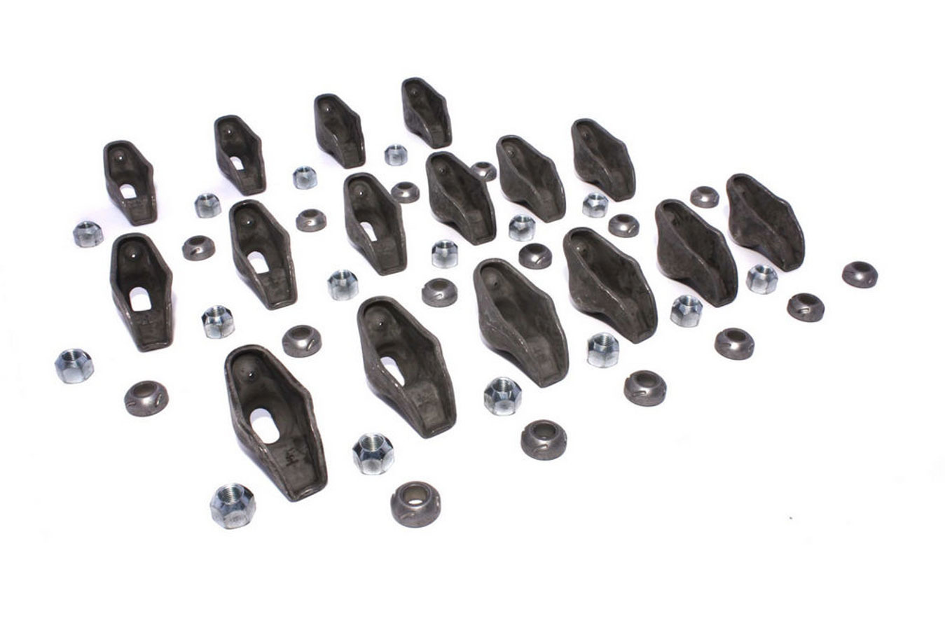 Comp Cams 1220-16 Rocker Arm, High Energy, 7/16 in Stud Mount, 1.50 Ratio, OEM / Long Slot, Nitride Steel, Small Block Chevy, Set of 16