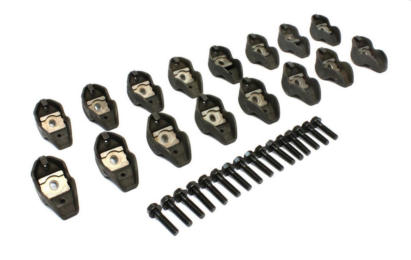 Comp Cams 1232-16 Rocker Arm, High Energy, Pedestal Mount, 1.73 Ratio, OEM / Long Slot, Steel, Big Block Ford / Cleveland / Modified, Set of 16