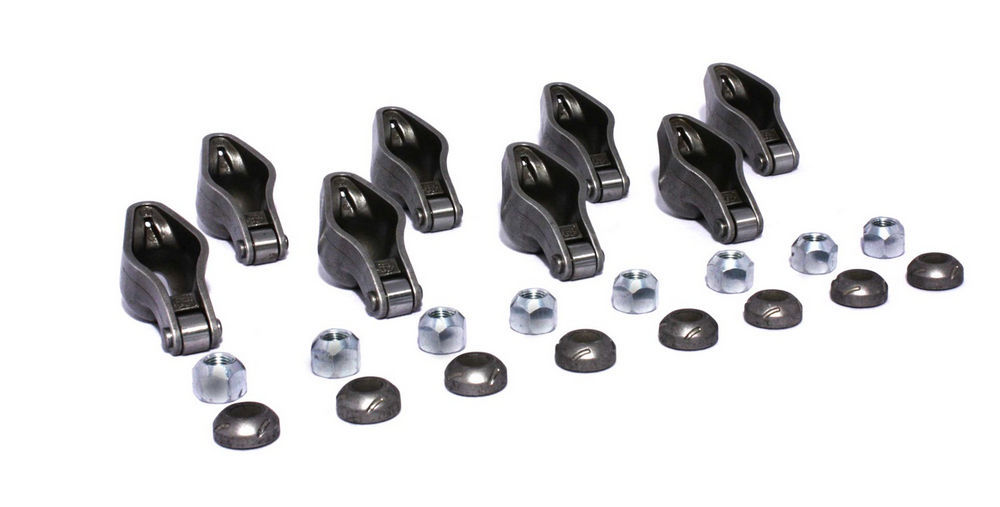 Comp Cams 1416-8 Rocker Arm, Magnum, 3/8 in Stud Mount, 1.6 Ratio, Roller Tip, Chromoly, Small Block Chevy, Set of 8