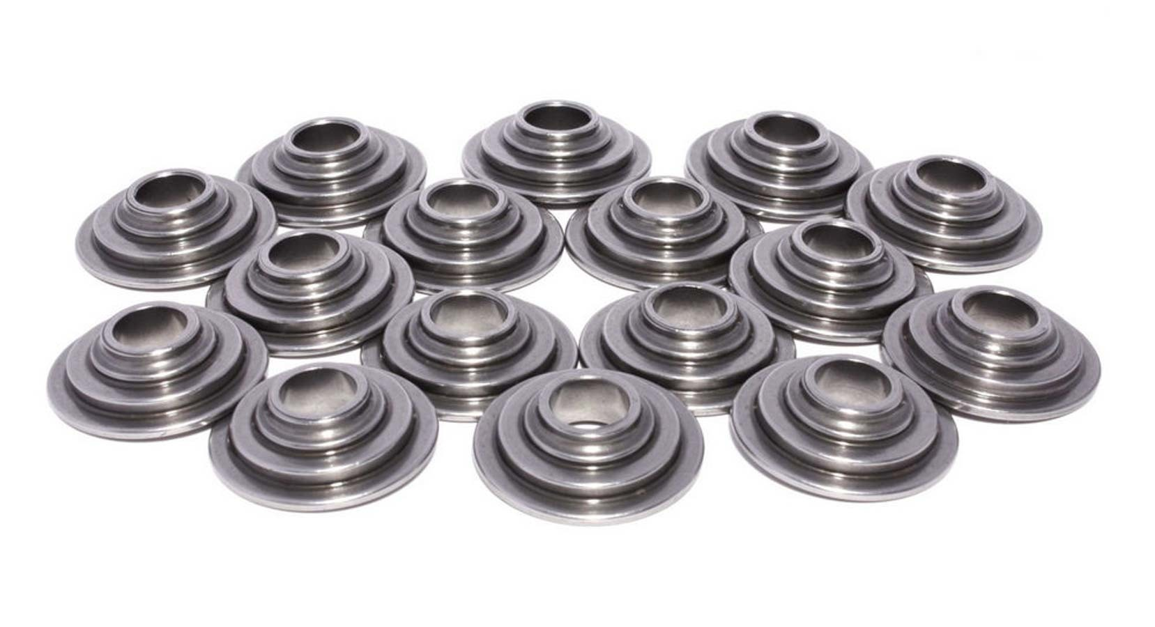 Comp Cams 1750-16 Valve Spring Retainer, 10 Degree, 0.870 in / 0.735 in OD Steps, 1.250 in Dual Spring, Steel, Set of 16
