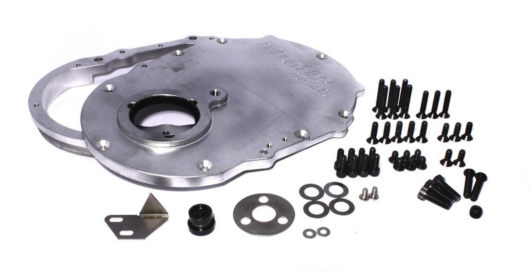 Comp Cams 217 Timing Cover, 2 Piece, Gaskets / Hardware / Seal / Timing Tab Included, Aluminum, Natural, Big Block Chevy, Kit