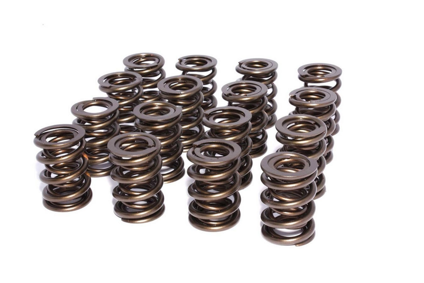 Comp Cams 26089-16 Valve Spring, Race Endurance, Dual Spring, 500 lb/in Spring Rate, 1.230 in Coil Bind, 1.550 in OD, Set of 16