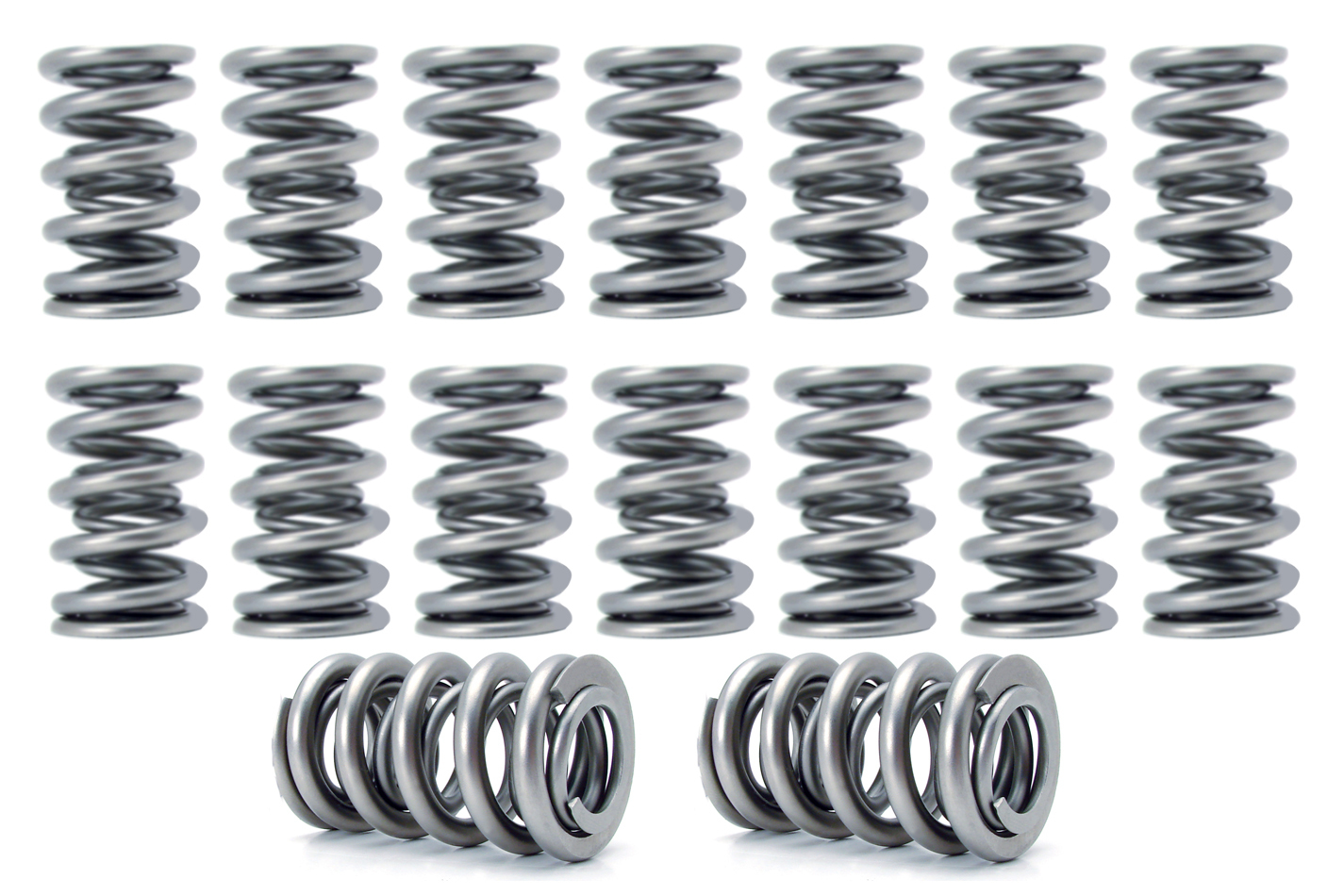 Comp Cams 26527-16 Valve Spring, Dual Spring, 427 lb/in Spring Rate, 1.15 in Coil Bind, 1.301 in OD, Set of 16