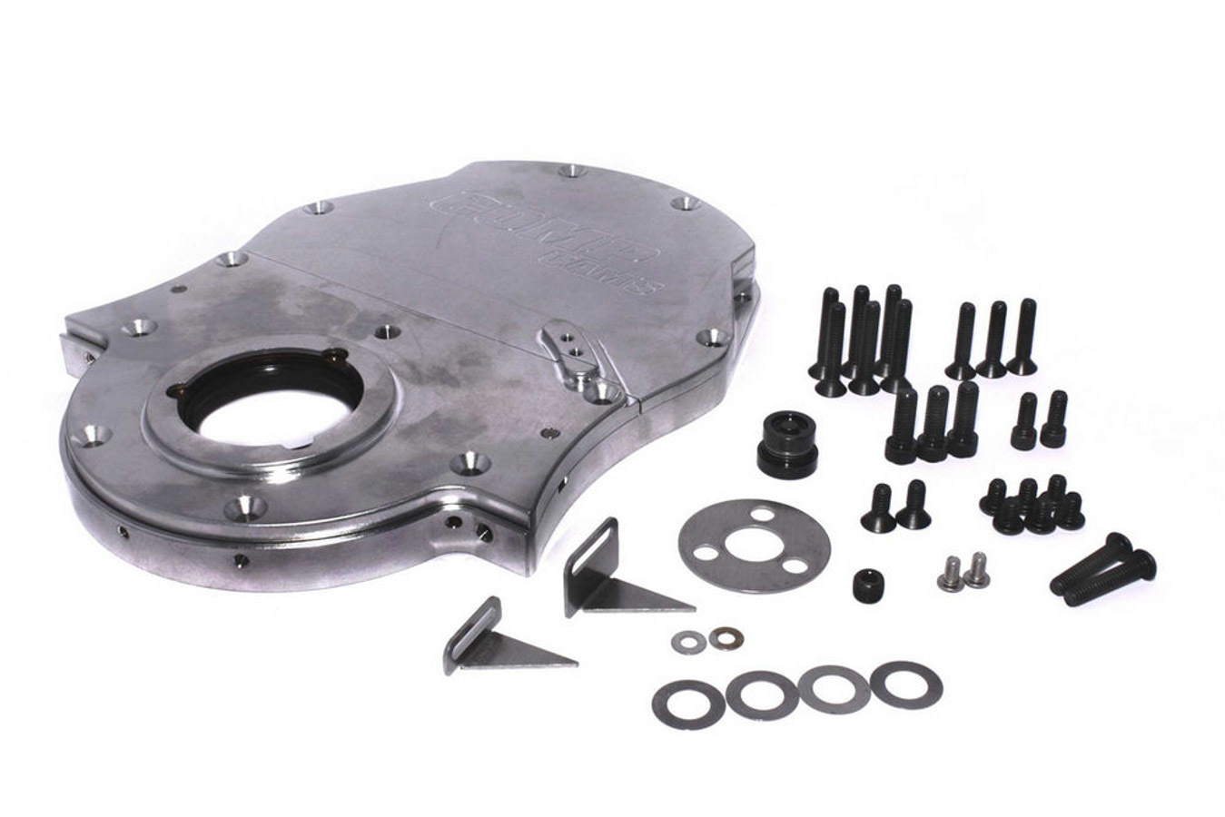 Comp Cams 312 Timing Cover, 3 Piece, Gaskets / Hardware / Seal / Timing Tab Included, Aluminum, Natural, Big Block Chevy, Kit