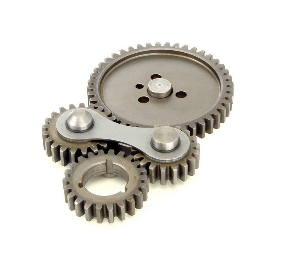 Comp Cams 4100 Timing Gear Drive, Dual Idler, Steel, Small Block Chevy, Kit