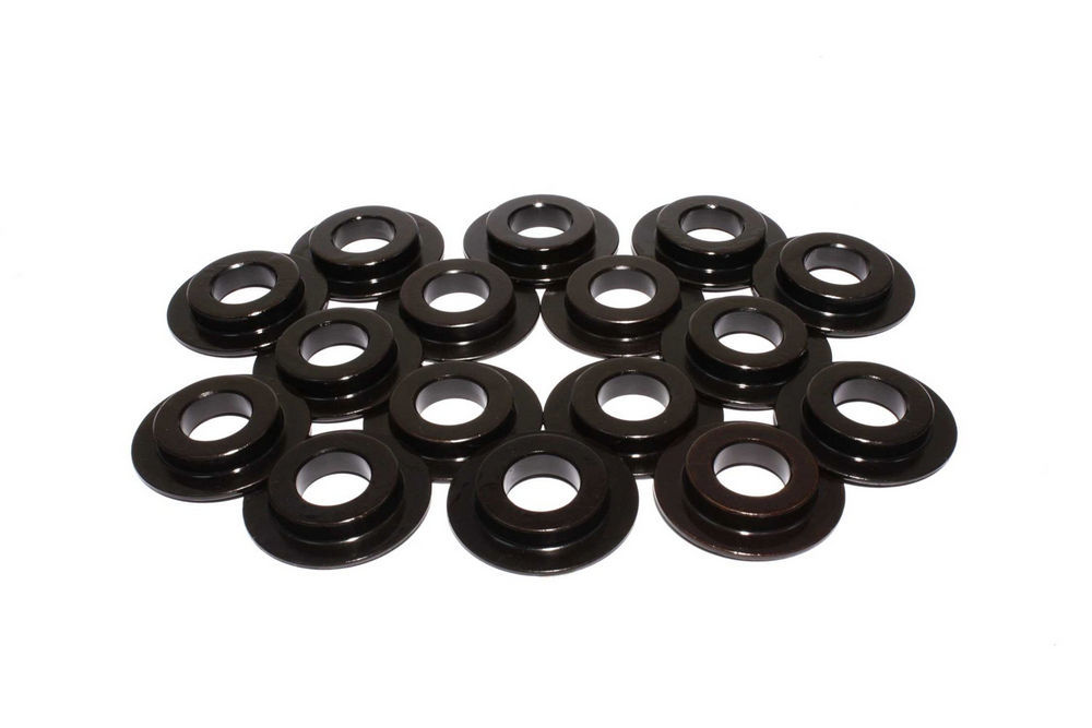 Comp Cams 4696-16 Valve Spring Locator, Inside, 0.060 in Thick, 1.510 in OD, 0.570 in ID, 0.970 in Spring ID, Steel, Set of 16