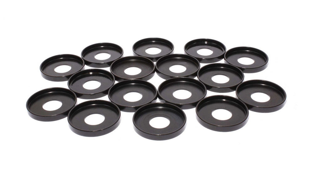 Comp Cams 4702-16 Valve Spring Locator, Outside, 0.060 in Thick, 1.730 in OD, 0.640 in ID, 1.650 in Spring OD, Steel, Set of 16