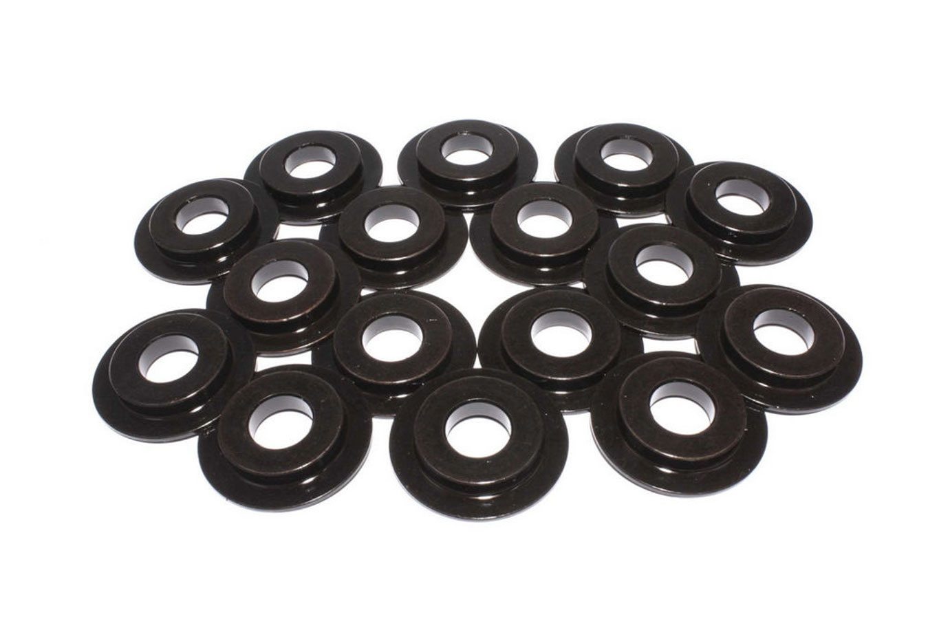 Comp Cams 4711-16 Valve Spring Locator, Inside, 0.060 in Thick, 1.590 in OD, 0.570 in ID, 1.130 in Spring ID, Steel, Set of 16