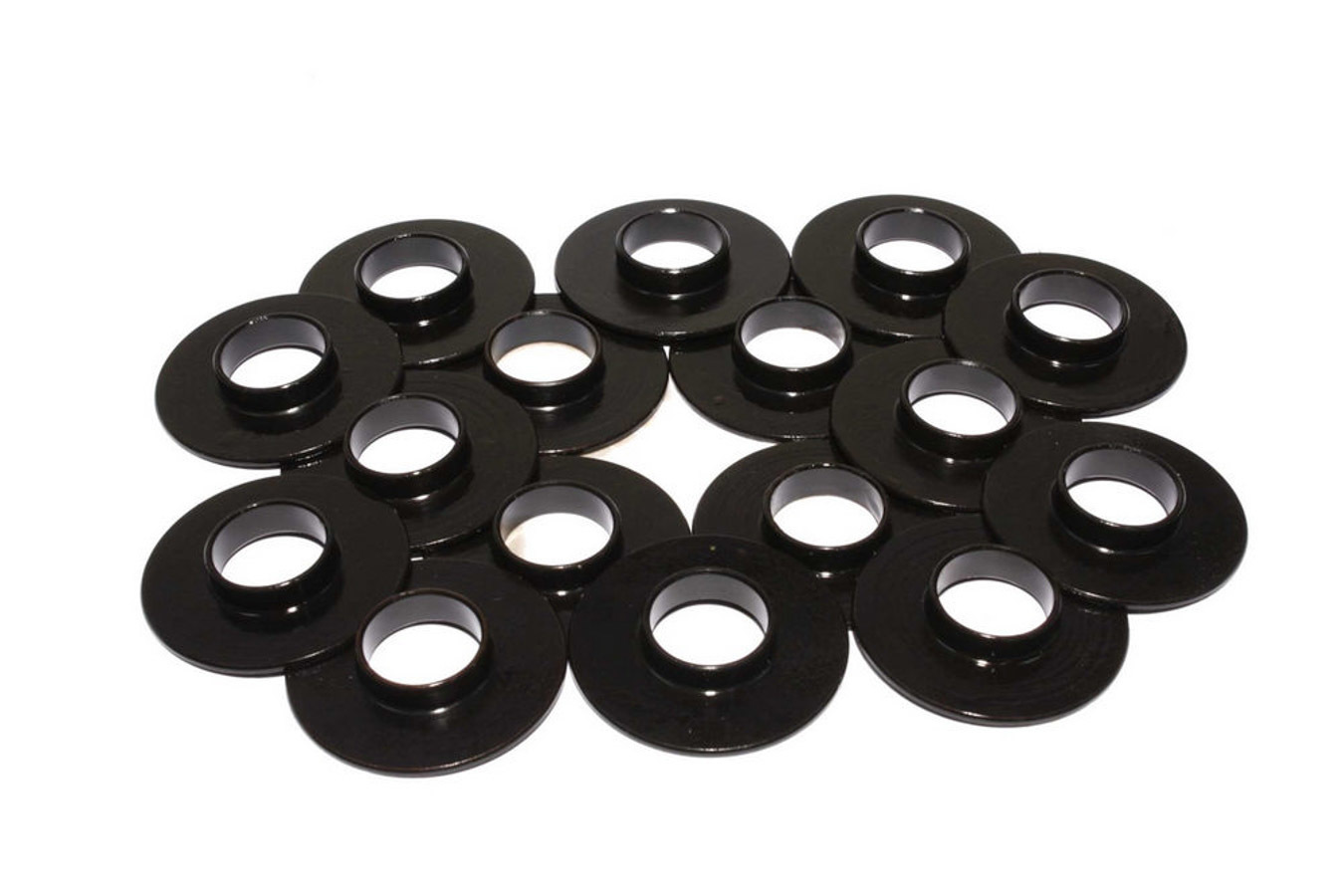 Comp Cams 4777-16 Valve Spring Locator, Inside, 0.060 in Thick, 1.540 in OD, 0.640 in ID, 0.790 in Spring ID, Steel, Set of 16