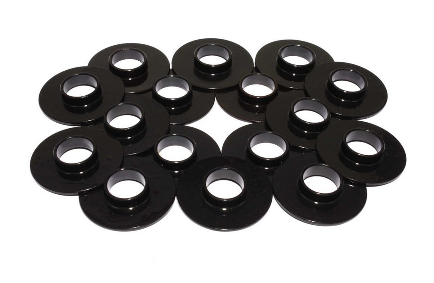 Comp Cams 4784-16 Valve Spring Locator, Inside, 0.060 in Thick, 1.500 in OD, 0.570 in ID, 0.735 in Spring ID, Steel, Set of 16