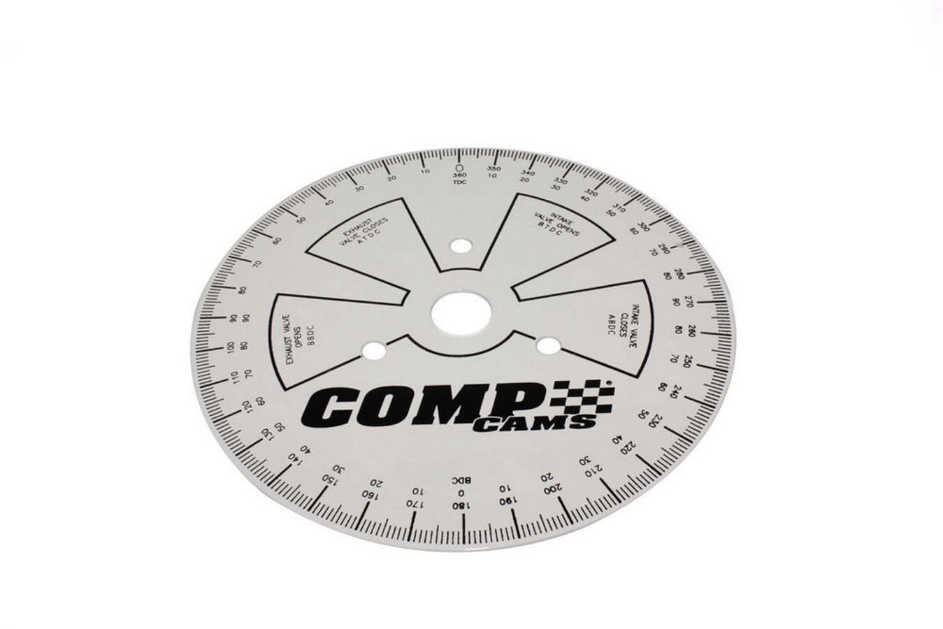 Comp Cams 4790 Degree Wheel, Sportsman, 9 in Diameter, Steel, White, Black Print, Each