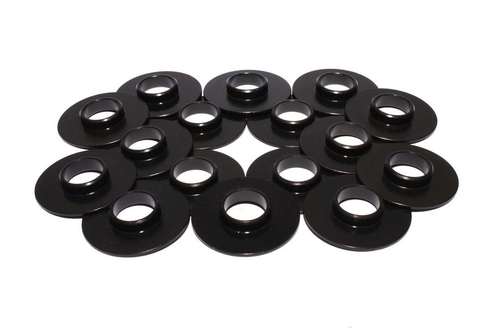 Comp Cams 4860-16 Valve Spring Locator, Inside, 0.060 in Thick, 1.655 in OD, 0.570 in ID, 0.630 in Spring ID, Steel, Set of 16