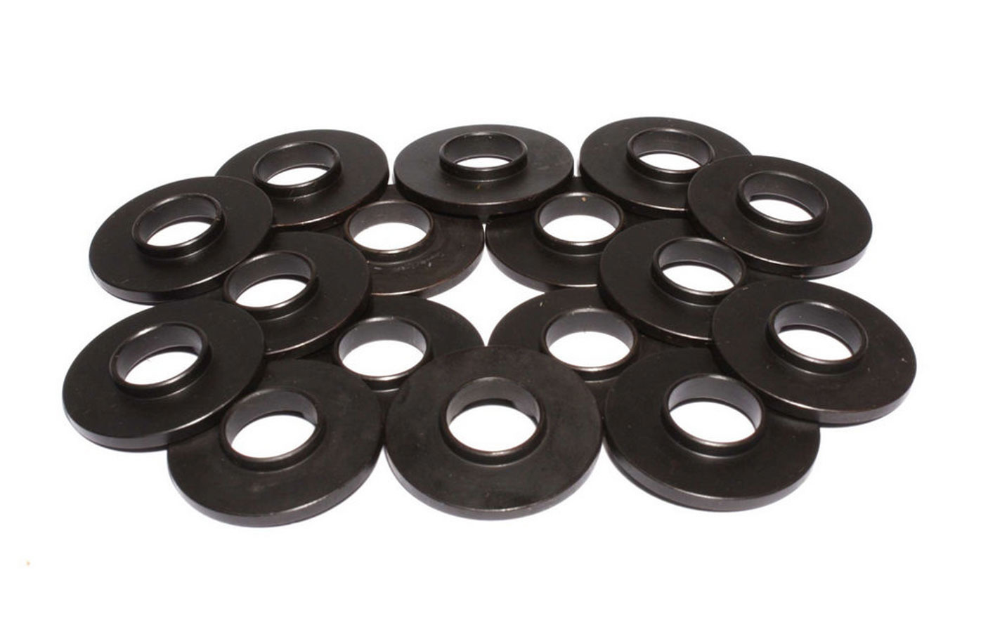 Comp Cams 4863-16 Valve Spring Locator, Inside, 0.060 in Thick, 1.300 in OD, 0.570 in ID, 0.840 in Spring ID, Steel, Set of 16