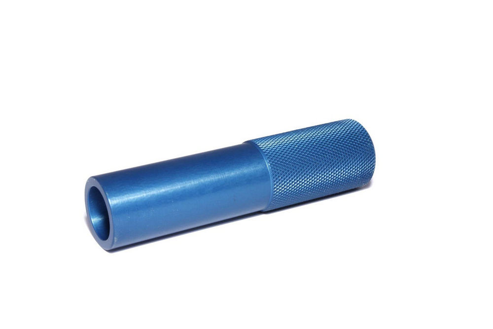 Comp Cams 5334 Valve Seal Installation Tool, Knurled Grip, Aluminum, Blue Anodized, 0.500 in / 0.530 in Seals, Each