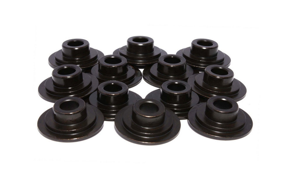 Comp Cams 740-12 Valve Spring Retainer, Super Lock, 10 Degree, 1.060 in / 0.690 in OD Steps, 1.437-1.500 in Dual Spring, Steel, Set of 12