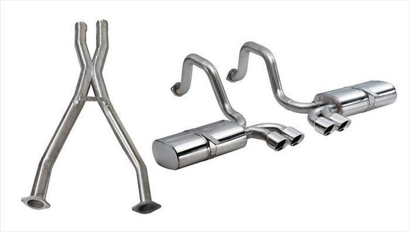 Corsa Performance 14111CB 2.5 Inch Cat-Back Sport Dual Exhaust w/ Polished 3.5 Inch Tips 97-04 Corvette / Z06 5.7L Stainless Steel Corsa Performance