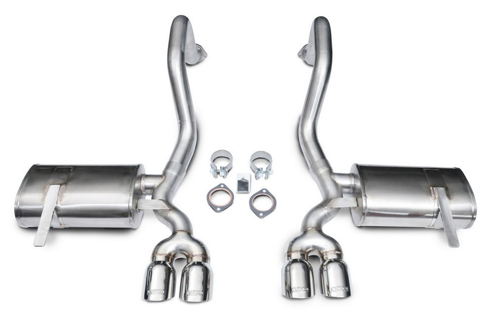 Corsa Performance 14132 Exhaust System, Xtreme, Axle-Back, 2-1/2 in Diameter, 3-1/2 in Tips, Stainless, Natural, GM LS-Series, Chevy Corvette 1997-2004, Kit