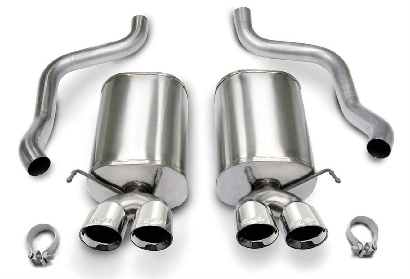 05-08 Corvette 6.0/6.2L Axle Back Exhaust System