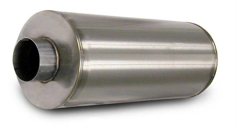 Corsa Performance 8004002 Muffler, dB Series, 4 in Center Inlet, 4 in Center Outlet, 9.620 in Diameter, 27.5 in Long, Stainless, Natural, Universal, Each