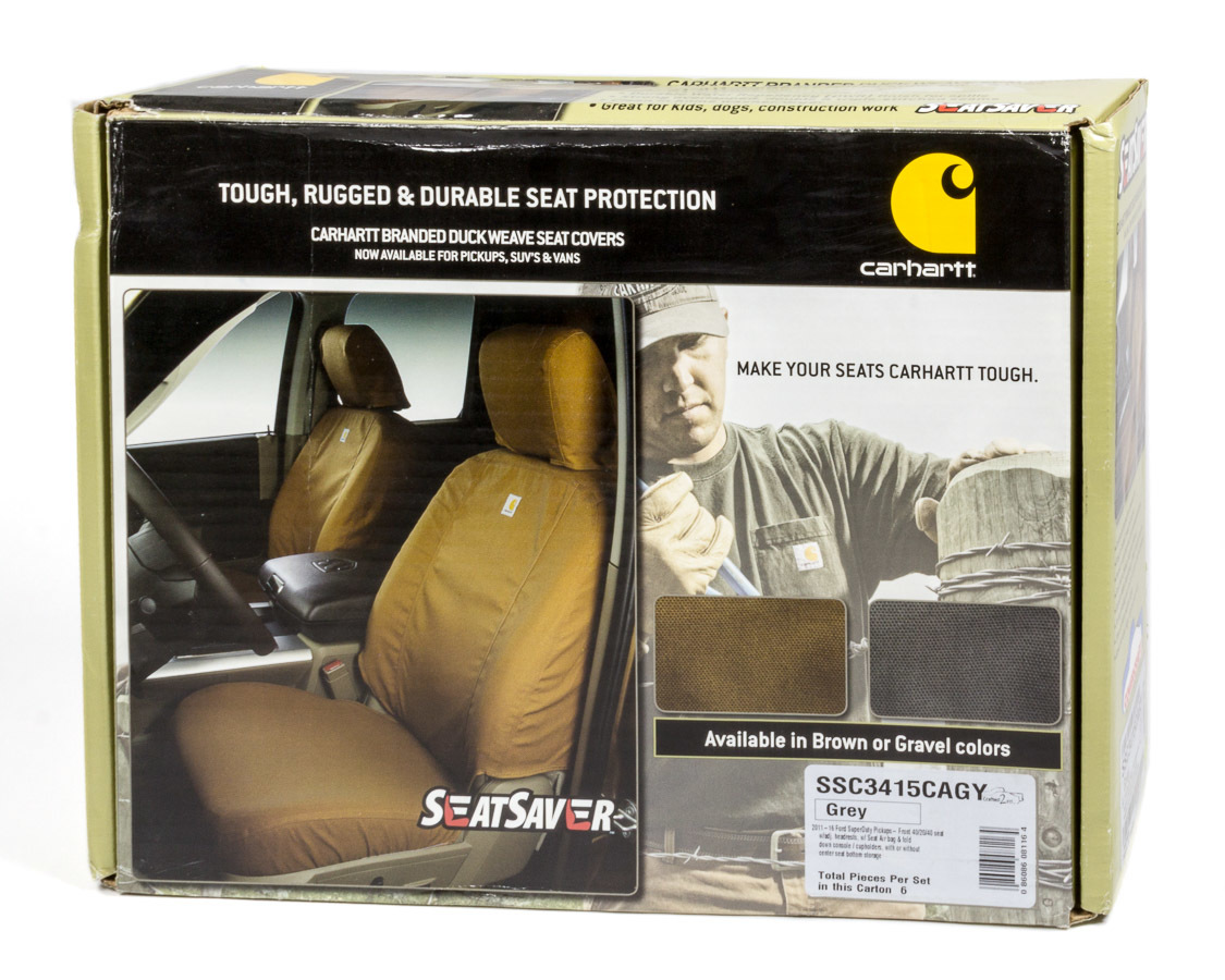 Carhartt Seat Saver Gray Front 11-16 Ford F250