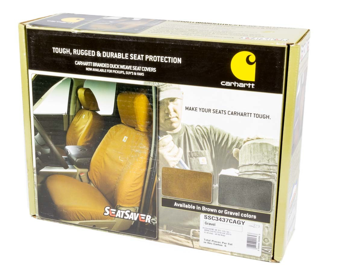 Carhartt Seat Saver Gray Front 14-16 GM Truck