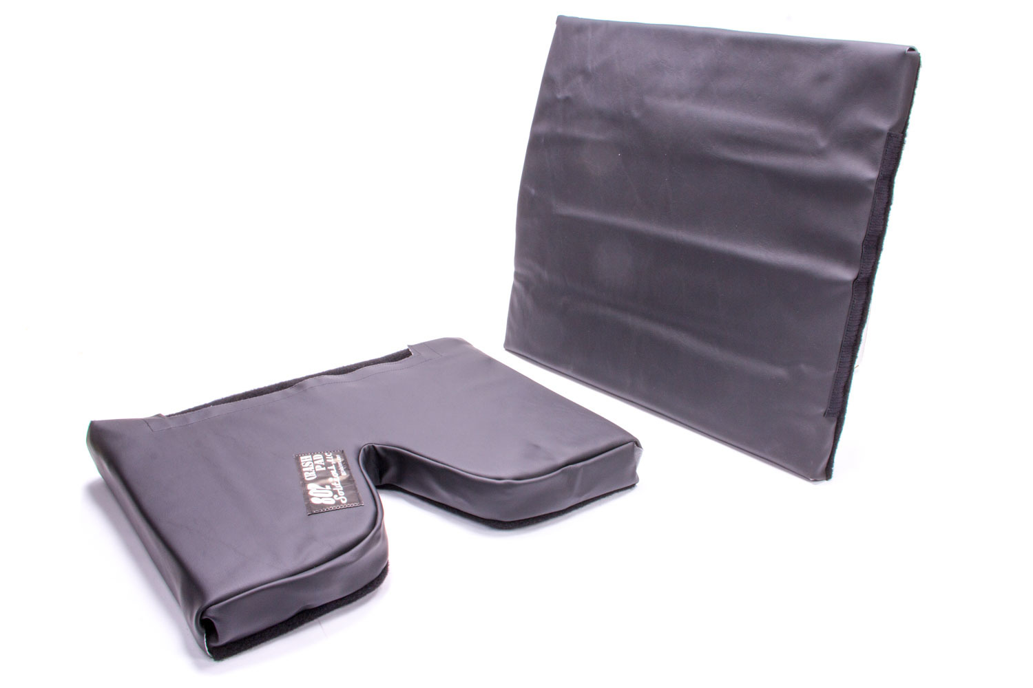 The Crash Pad CP02-20BP Seat Pad, Crash Pad, 2 in Thick Bottom, 20 in Tall Lumbar, Hook and Loop Attachment, Vinyl / Nylon, Black, 14-18 in Wide Seats, Each