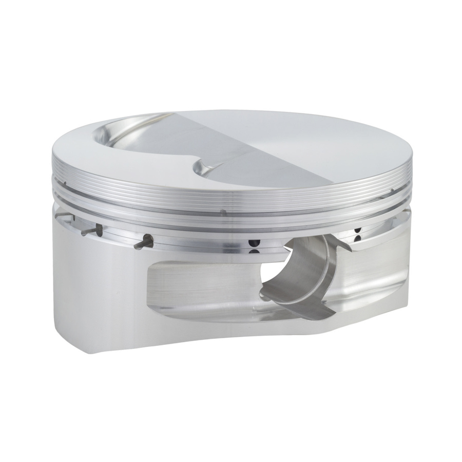 CP Pistons S2402-8 Piston, 13 Degree Flat Top 400, Forged, 4.135 in Bore, 0.043 in x 0.043 in x 3.0 mm Ring Grooves, Minus 8.8 cc, Small Block Chevy, Set of 8