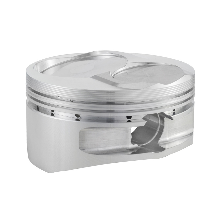 CP Pistons S2412-8 Piston, 13 Degree Flat Top 400, Forged, 4.135 in Bore, 1.5 x 1.5 x 3.0 mm Ring Grooves, Minus 2.2 cc, Small Block Chevy, Set of 8