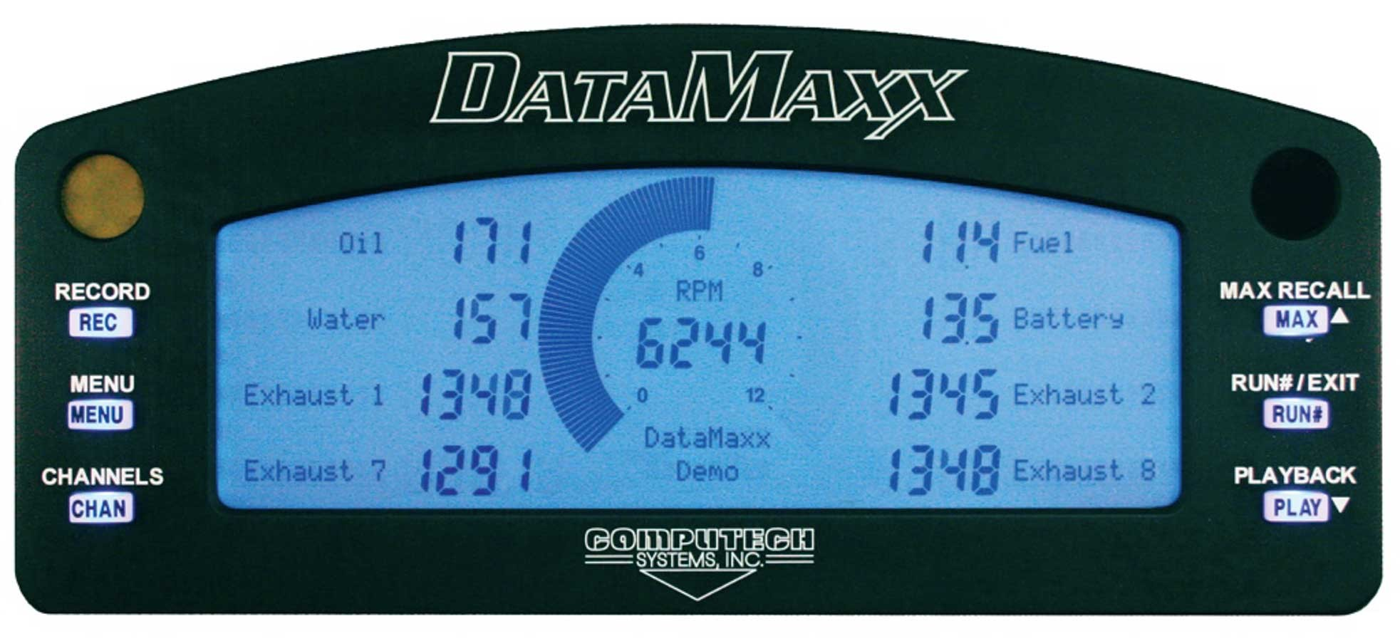 Computech Systems 8001 Gauge Kit, Digital, DataMaxx, Lighted, Multifunction, Requires DataMaxx Data Loggers, Kit