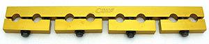 Crane 11604-1 Rocker Arm Stud Girdle, 7/16-20 in Thread Studs, Quick Lock, Aluminum, Gold Anodized, Small Block Chevy, Kit