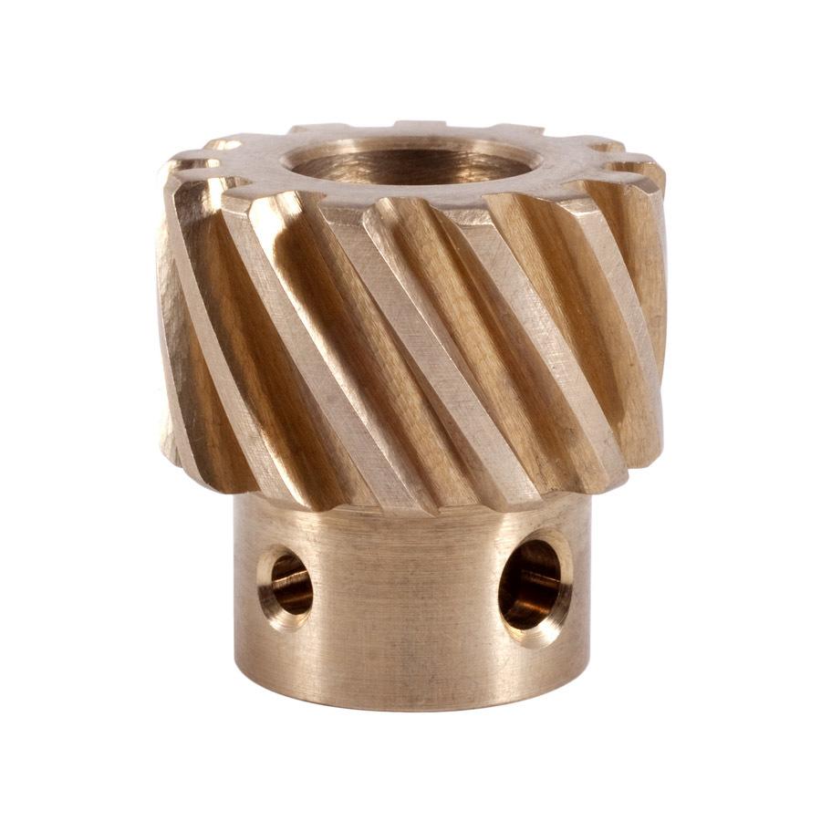 Crane 20990-1 Distributor Gear, 0.491 in Shaft, Bronze, Chevy / Pontiac 6 / 4-Cylinder, Each