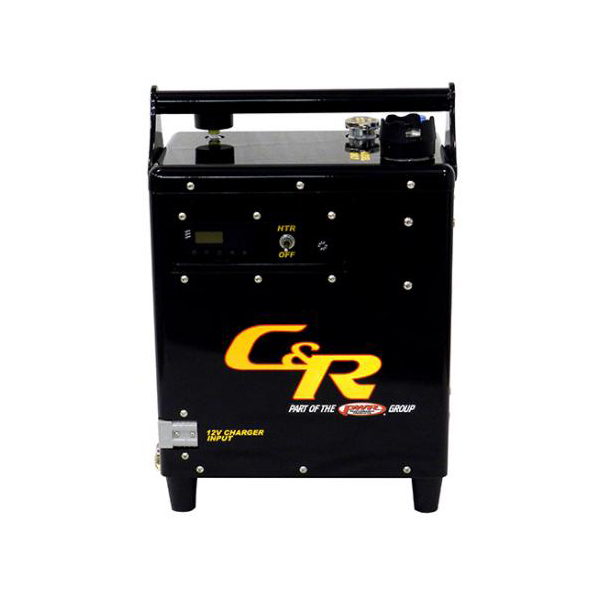 C & R Racing Radiators 61-00003 Engine Coolant Heater, External Unit, Diesel Fired, 12V Battery, 110 / 220V Recharge, Each