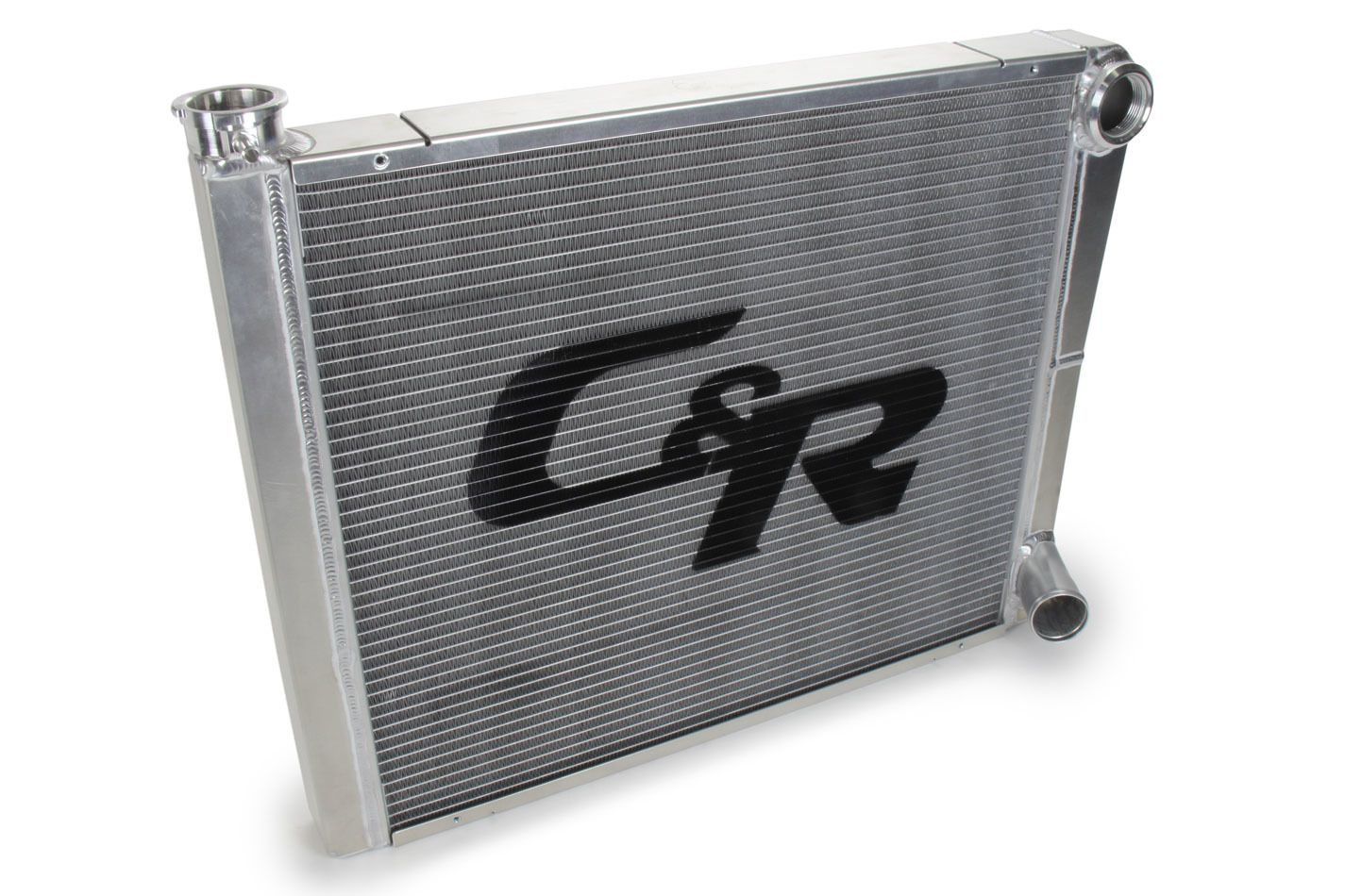 C & R Racing Radiators 902-24190 Radiator, 24 in W x 19 in H x 1-3/4 in D, Dual Pass, Driver Side Inlet, Passenger Side Outlet, Aluminum, Natural, Each