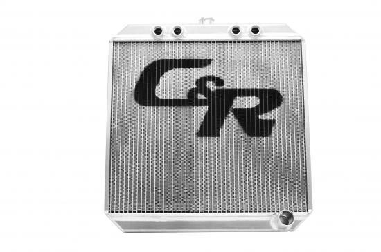 C & R Racing Radiators 943-20226 Radiator, Sprint Down Flow, 20 in W x 22 in H, 2.2 in Core, Top Inlet, Passenger Side Outlet, Aluminum, Natural, Sprint Car, Each