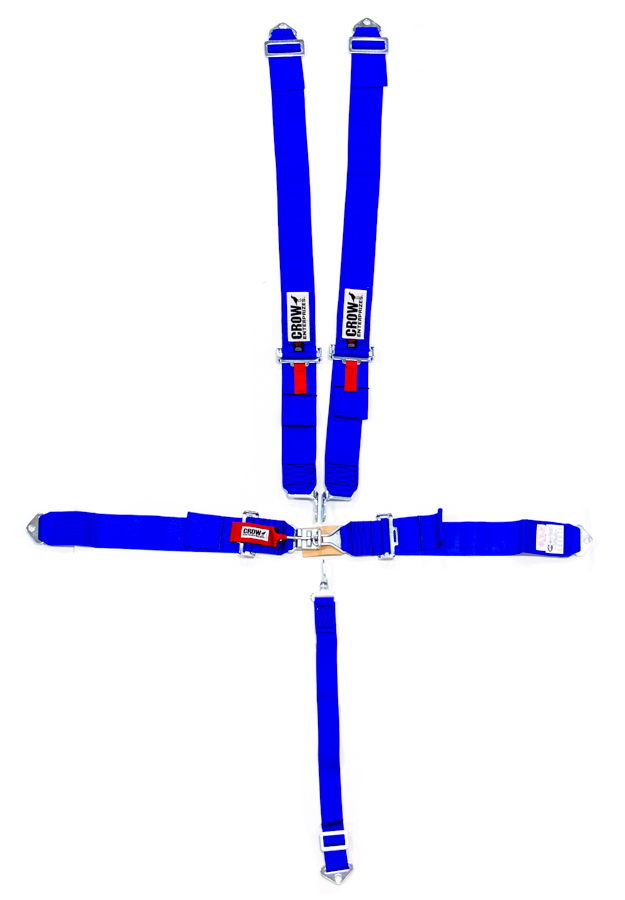 5-Pt Harness Small Latch Blu Bolt In Pull Down