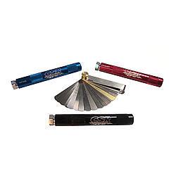 CSR Performance 310 Feeler Gauge, Straight, SAe / Metric Sizing, 2 Handles, Steel, Natural, Kit