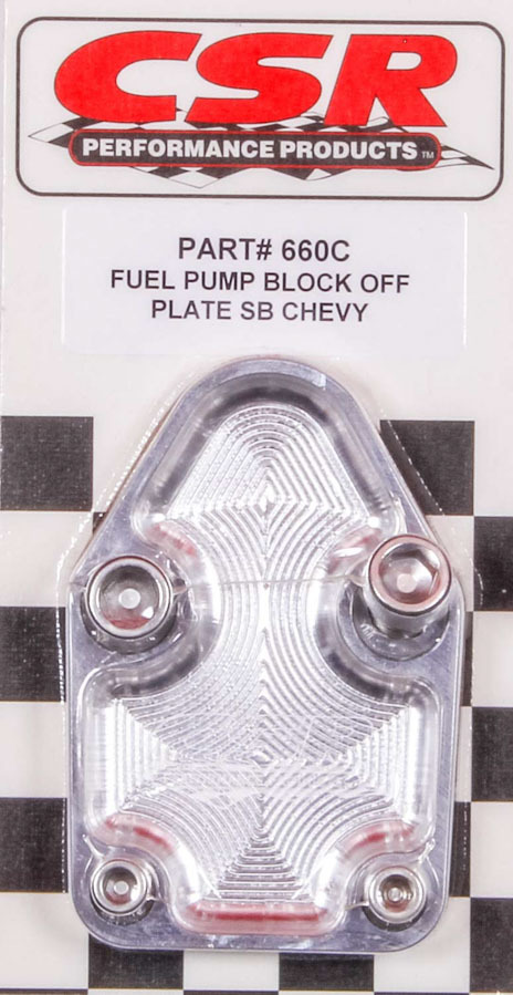 SBC F/P Block-Off Plate - Clear