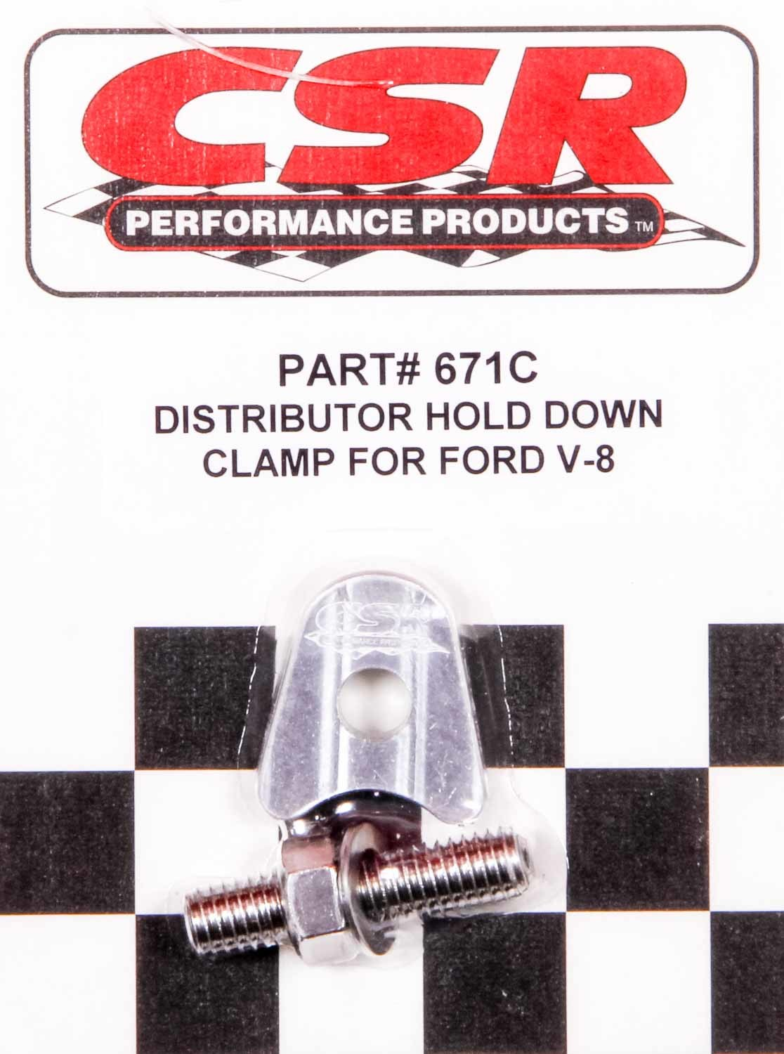 Ford V8 Distributor Hold Down Clamp - Clear